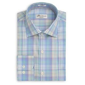 NWT Peter Millar Meadow Plaid Sport Pastel Shirt